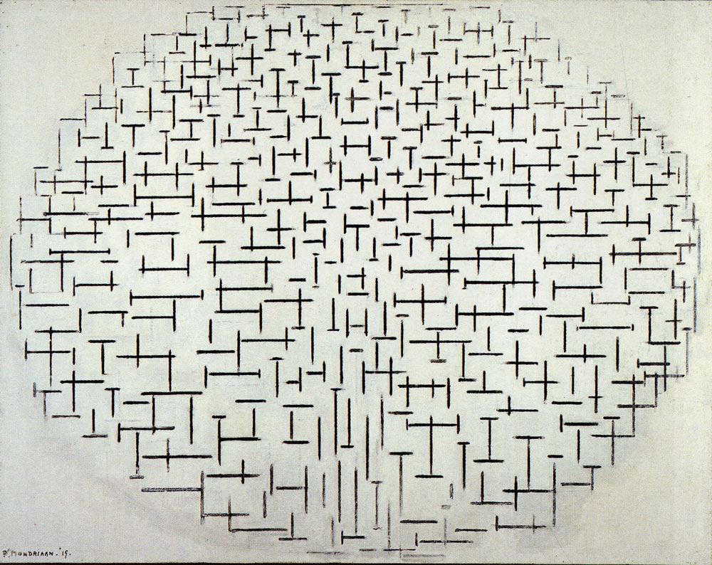 Piet Mondrian - Composition 10 in Black and White