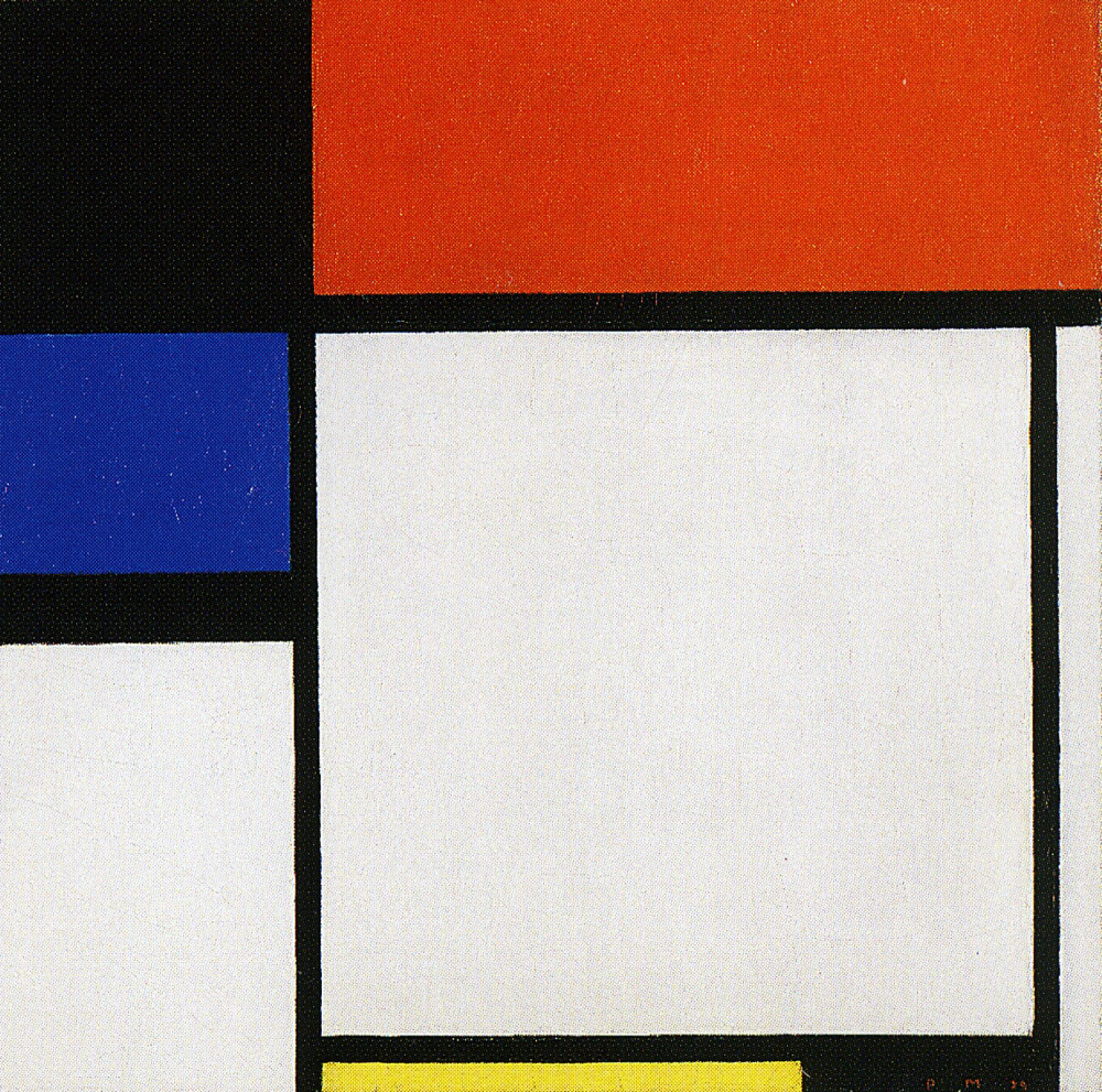 Piet Mondrian - Composition No. III/Fox-Trot B, with Black, Red, Blue, and Yellow