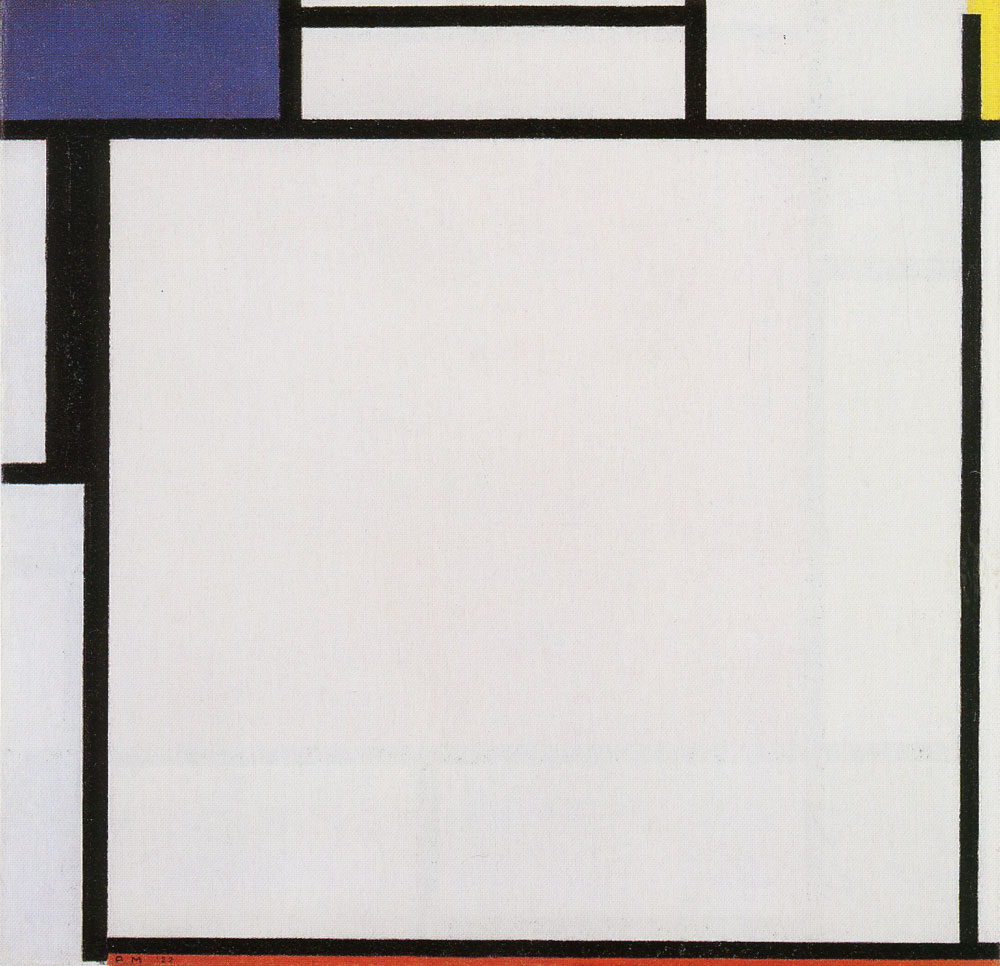 Piet Mondrian - Composition with Blue, Yellow, Black, and Red