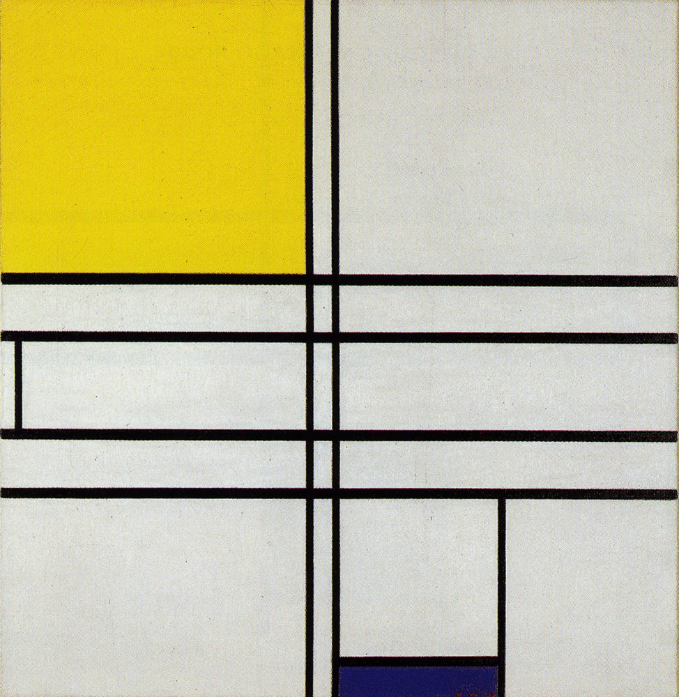 Piet Mondrian - Composition in White, Blue and Yellow: C