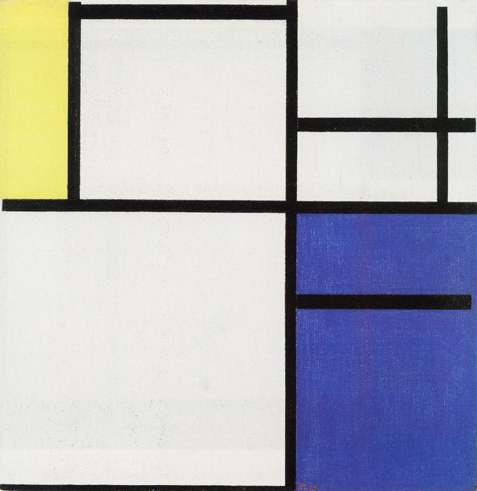 Piet Mondrian - Composition with Yellow, Blue, and Blue-White