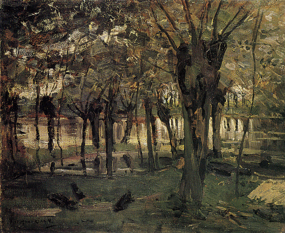 Piet Mondriaan - Willow Grove near the Water, Prominent Tree at Right