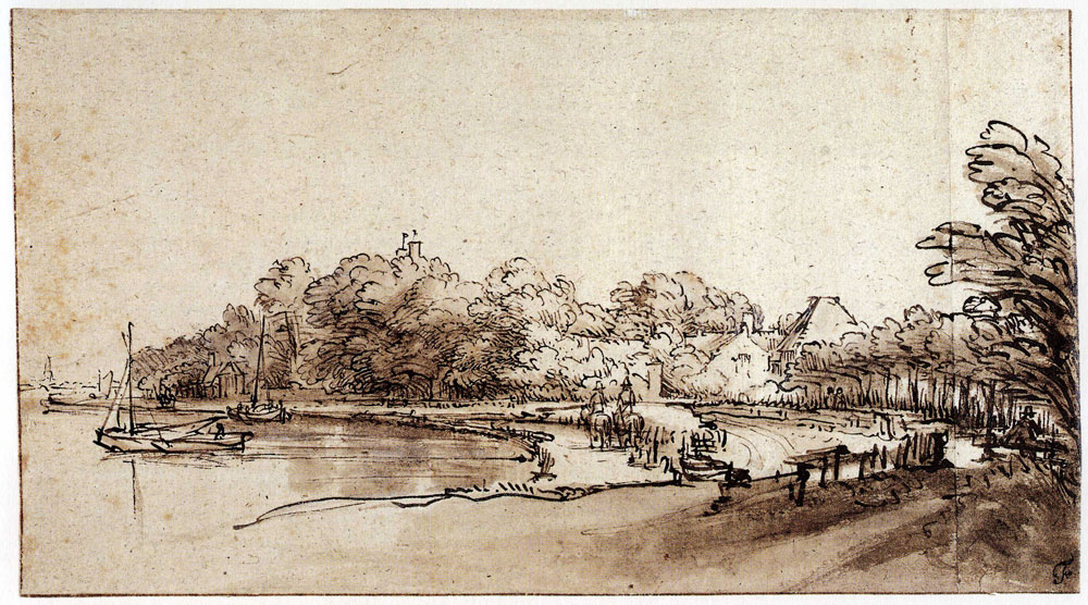 Rembrandt - The Bend in the Amstel River