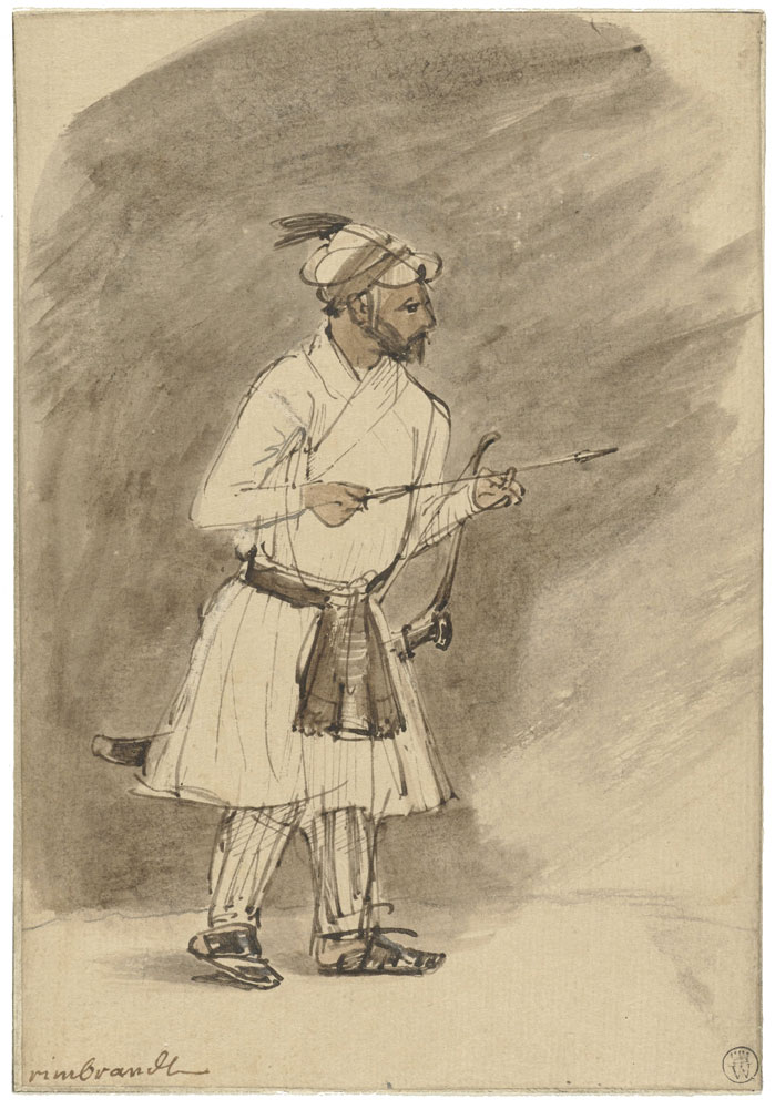 Rembrandt - An Oriental with Arrow and Bow