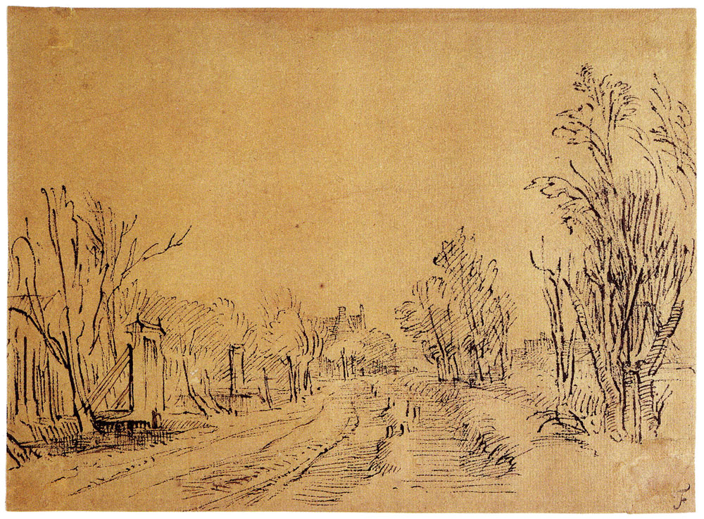 Rembrandt - Road in the Polder