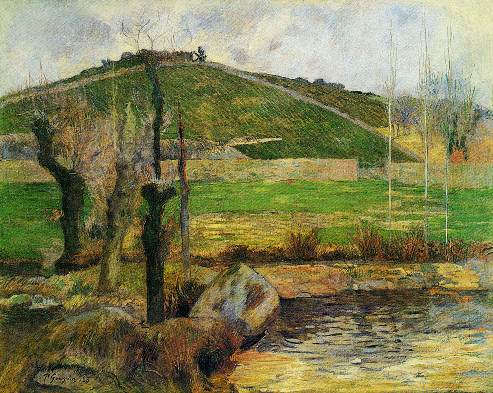 Paul Gauguin - River Aven below Mount Sainte-Marguerite