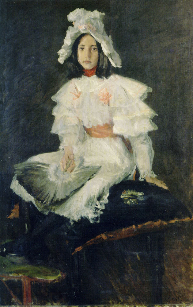 William Merritt Chase - The Feather Fan