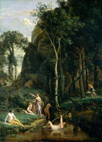 Jean-Baptiste-Camille Corot Diana and Actaeon (Diana Surprised in Her Bath)