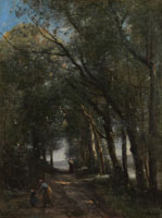 Jean-Baptiste-Camille Corot A Lane through the Trees