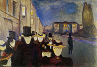 Edvard Munch Evening on Karl Johan