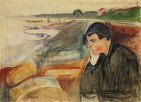 Edvard Munch Evening. Melancholy