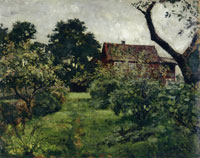 Edvard Munch Garden with Red House