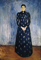 Edvard Munch Inger in Black and Violet