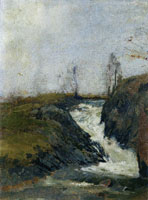 Edvard Munch Landscape with a Small Waterfall