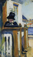 Edvard Munch Man on the Veranda