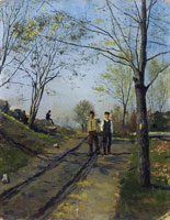 Edvard Munch Two Boys on a Country Lane
