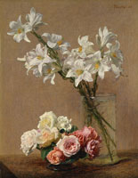 Henri Fantin-Latour - Roses and Lilies