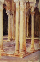 John Singer Sargent Alhambra, Patio de los Leones (Court of the Lions)