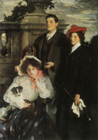 John Singer Sargent Hylda, Almina and Conway, Children of Asher Wertheimer