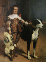 John Singer Sargent Dwarf with a Dog, after Velazquez