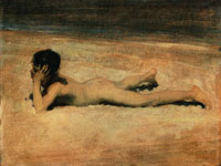 John Singer Sargent A Nude Boy on a Beach