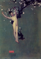 John Singer Sargent Nude Oriental Youth with Apple Blossom
