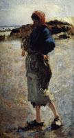 John Singer Sargent Study for 'Oyster Gatherers of Cancale'