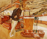 John Singer Sargent On the Deck of the Yacht Constellation