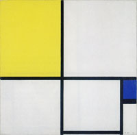 Piet Mondrian Composition No. II, with Yellow and Blue