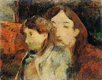 Paul Gauguin Two People on a Sofa