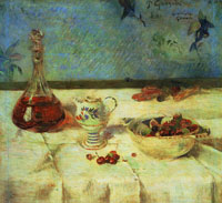 Paul Gauguin White Tablecloth (Pension Gloanec)