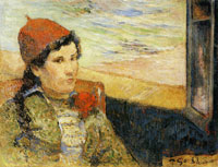 Paul Gauguin Young Woman at a Window