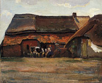 Piet Mondriaan Brabant Farm Building and Shed