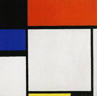 Piet Mondrian Composition No. III/Fox-Trot B, with Black, Red, Blue, and Yellow
