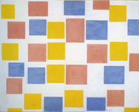 Piet Mondrian Composition with Colour Planes 2