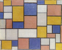 Piet Mondrian Composition with Colour Planes and Gray Lines 1