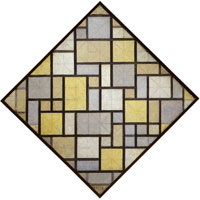 Piet Mondrian Composition with Grid 5: Lozenge Composition with Colours