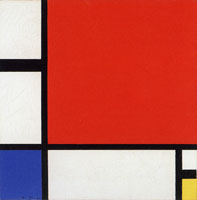 Piet Mondrian Composition with Red, Blue, and Yellow