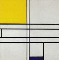 Piet Mondrian Composition in White, Blue and Yellow: C