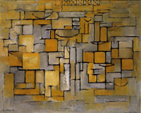 Piet Mondrian Composition No. XV