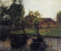 Piet Mondriaan Farmstead with Willows on the Water III