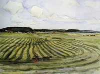 Piet Mondriaan Landscape with Mowed Field II