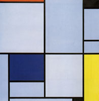 Piet Mondrian - Tableau I, with Red, Black, Blue and Yellow