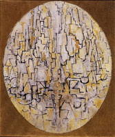 Piet Mondrian Tableau No. 3: Composition in Oval