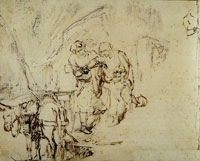 Rembrandt The Holy Family Departing for Egypt