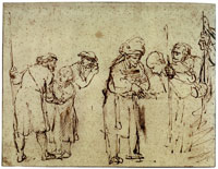 Rembrandt Joseph Sold to the Ishmaelites by His Brethren