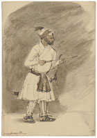 Rembrandt An Oriental with Arrow and Bow