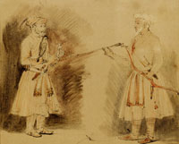Rembrandt Two Indian Noblemen