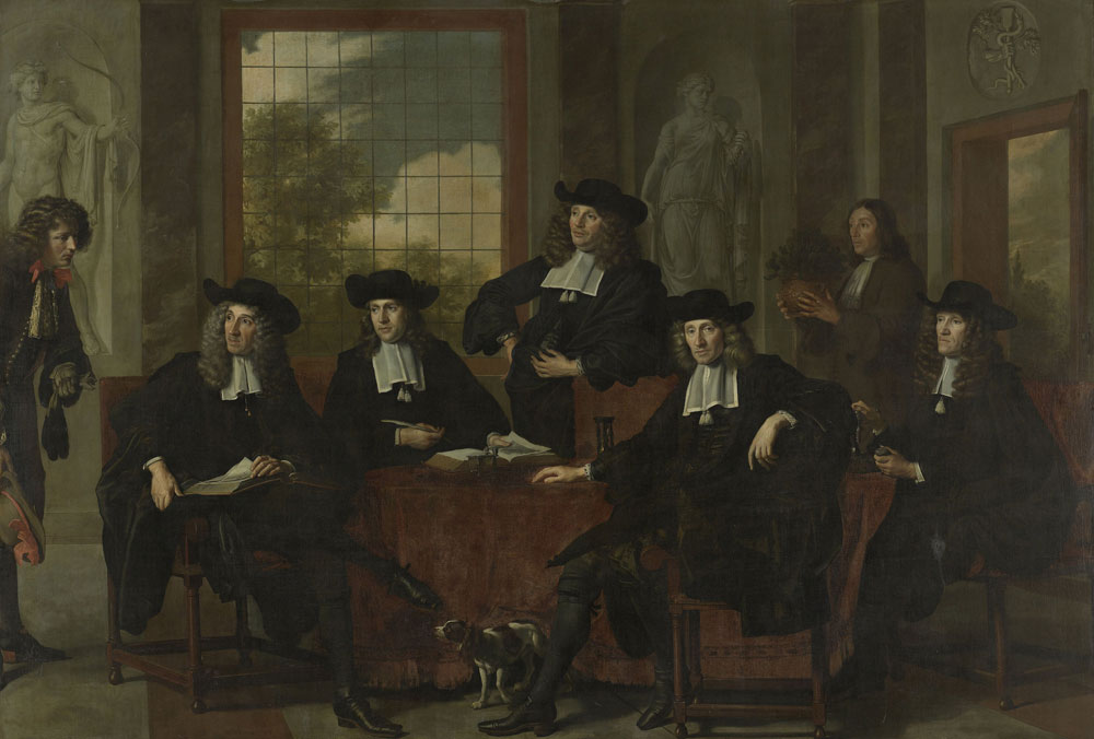 Adriaen Backer - Group Portrait of the Inspectors of the Collegium Medicum in Amsterdam