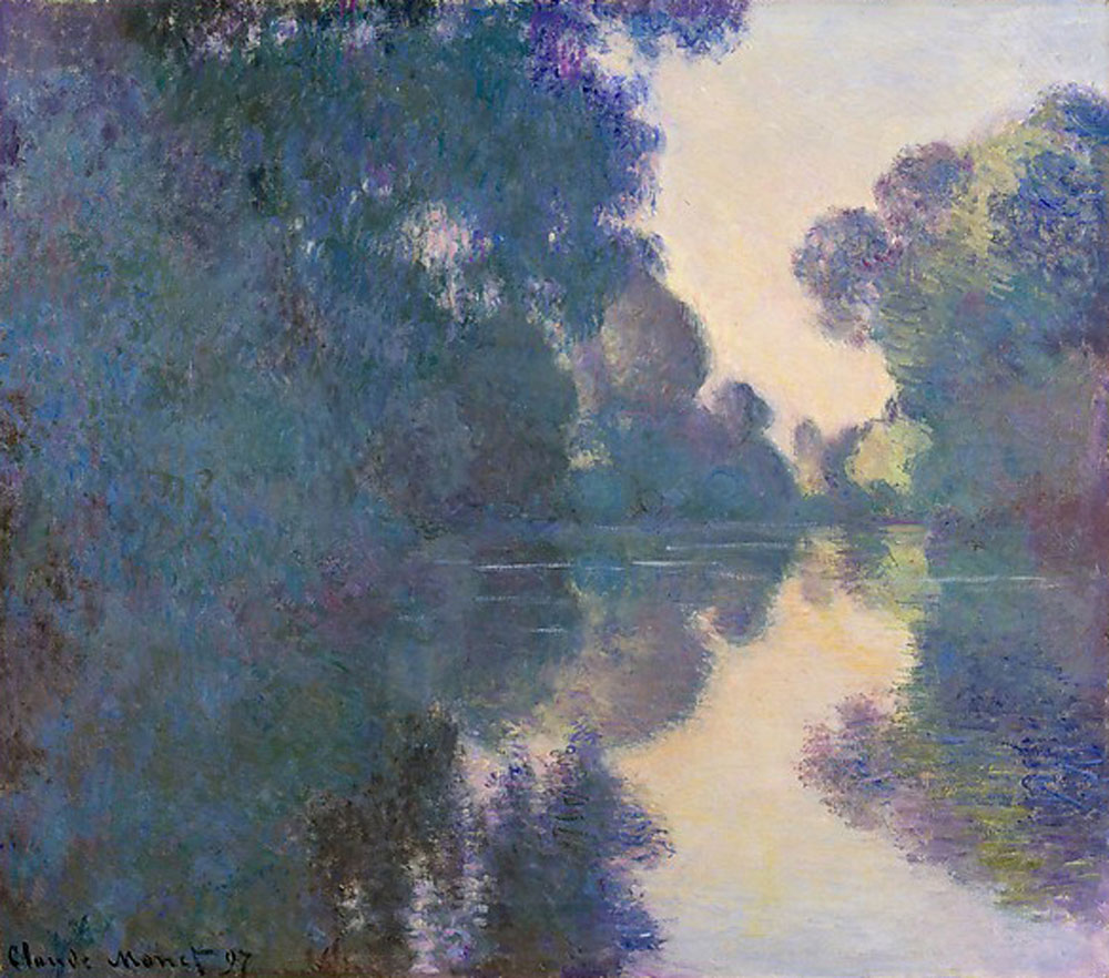Claude Monet - Morning on the Seine near Giverny